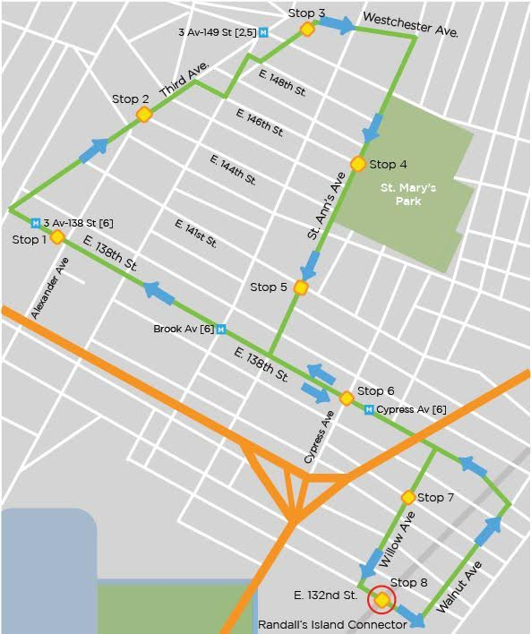 Free shuttle bus to Randall's Island Connector coming soon