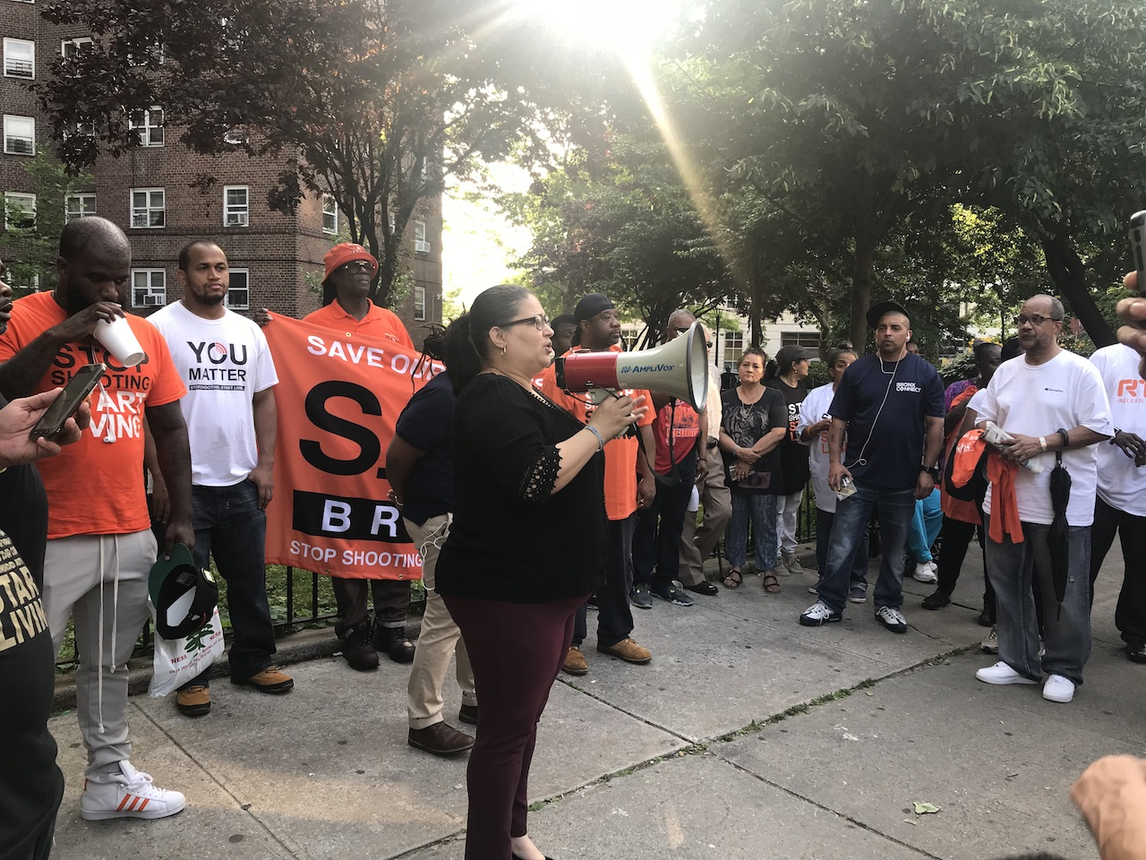 Fatal shooting at Patterson Houses prompts anti-gun protest