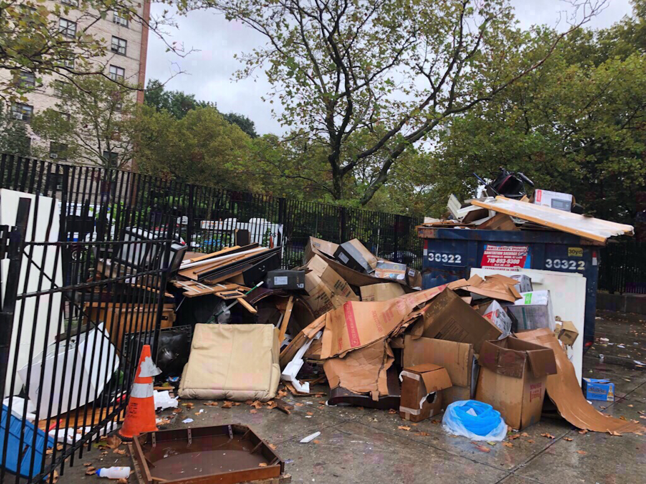 Trash piles up after NYCHA loses contractor