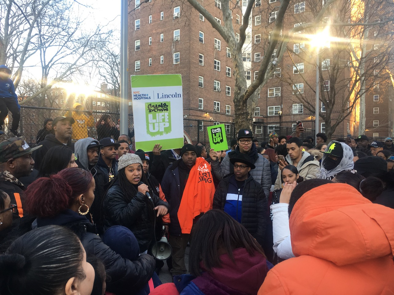 Anti-violence groups rally to denounce shooting of Patterson teen