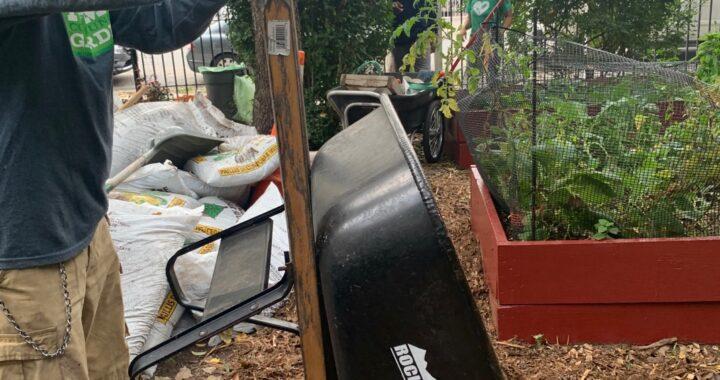 Volunteers unite for garden workday